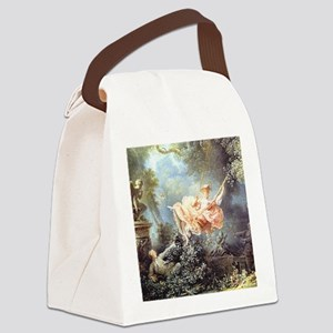 Fragonard - The Swing painting Canvas Lunch Bag