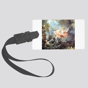 Fragonard - The Swing painting Large Luggage Tag