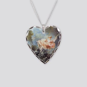 Fragonard - The Swing painting Necklace Heart Char