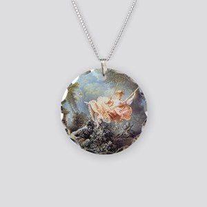 Fragonard - The Swing painting Necklace Circle Cha