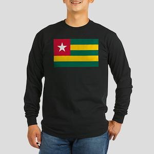 Togolese Flag of Togo Long Sleeve Dark T-Shirt