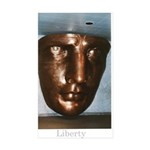 Statue of Liberty Face Sticker (Rectangle 10 pk)