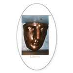 Statue of Liberty Face Sticker (Oval 50 pk)