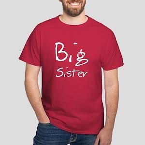 Big Sister (Black Text) Dark T-Shirt