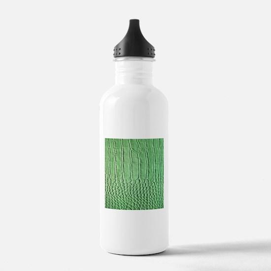 Faux Green crocodile skin pattern Sports Water Bot