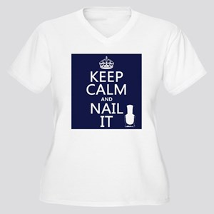 Keep Calm and Nail It Plus Size T-Shirt