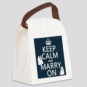 Keep Calm and Marry On (gay/lesbian) Canvas Lunch