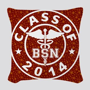 Class Of 2014 BSN Woven Throw Pillow