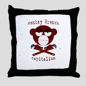 Monkey Wrench Throw Pillow