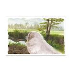 Great Pyrenees Watercolor, Mini Mini Poster Print