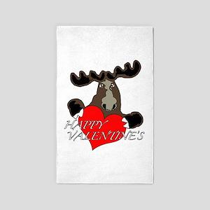 Love is bull Valentine 3'x5' Area Rug