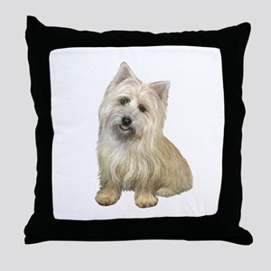 Cairn Terrier (#4B) Throw Pillow