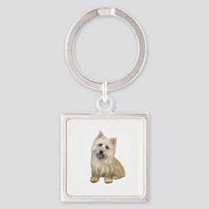 Cairn Terrier (#4B) Square Keychain