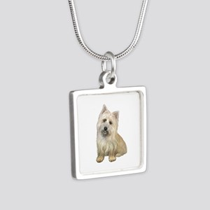 Cairn Terrier (#4B) Silver Square Necklace