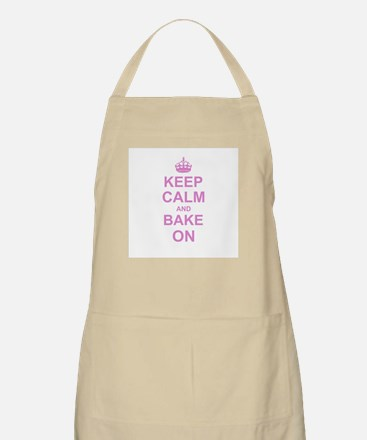 Keep Calm and Bake on - Pink Apron
