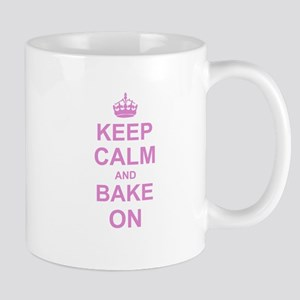 Keep Calm and Bake on - Pink Mugs