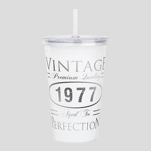 Vintage 1977 Birthday Acrylic Double-wall Tumbler