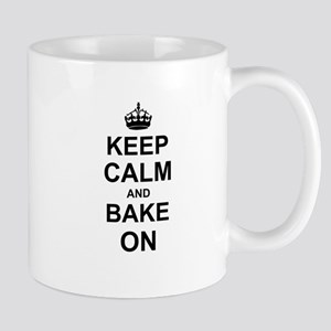 Keep Calm and Bake on - Black Mugs