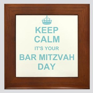 Keep Calm its your Bar Mitzvah Framed Tile