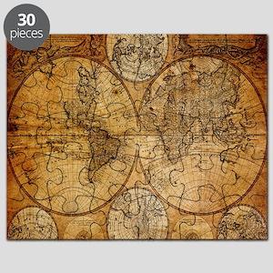 Victorian Era Puzzles CafePress - Victorian world map