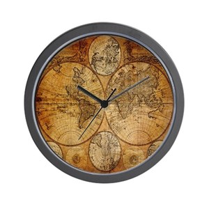 World map wall clocks cafepress gumiabroncs Image collections
