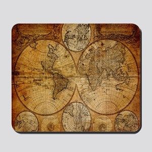 voyage compass vintage world map Mousepad