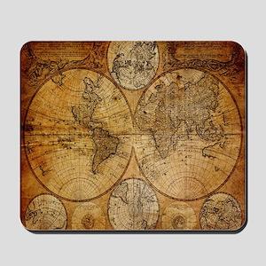 voyage compass vintage world map Mousepad