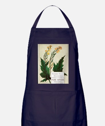 Herbs and Spices Art Apron (dark)