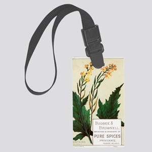 Herbs and Spices Art Large Luggage Tag
