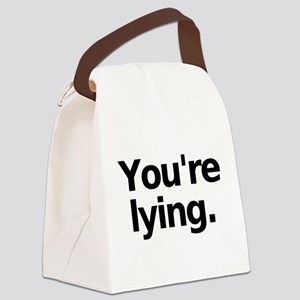 Lying Canvas Lunch Bag