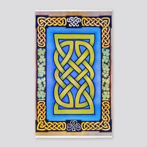 Celtic Lion Knot and Clover 3'x5' Area Rug