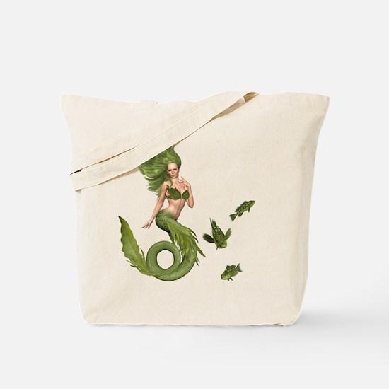 Green Mermaid Tote Bag