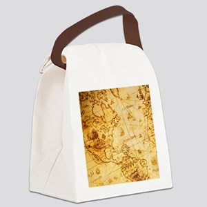 cool old fashion world map Canvas Lunch Bag