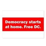 Democracy Starts at Home Postcards (Package of 8)