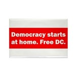 Democracy Starts at Home Rectangle Magnet (10 pack