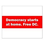 Democracy Starts at Home Small Poster