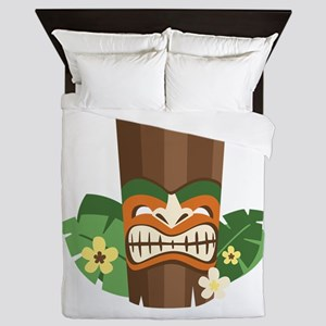 Tiki Mask Queen Duvet