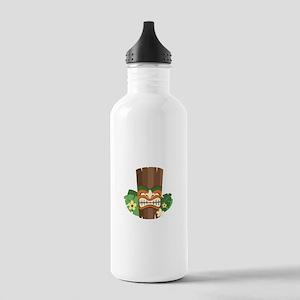 Tiki Mask Water Bottle