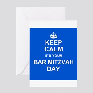 Keep Calm its your Bar Mitzvah day Greeting Cards