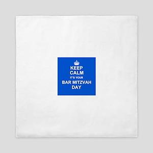 Keep Calm its your Bar Mitzvah day Queen Duvet