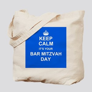 Keep Calm its your Bar Mitzvah day Tote Bag