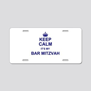 Keep Calm its your Bar Mitzvah day Aluminum Licens
