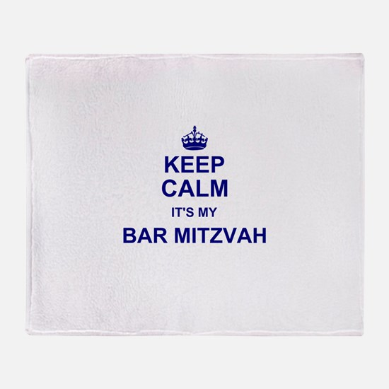 Keep Calm its your Bar Mitzvah day Throw Blanket
