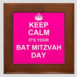 Keep Calm its your Bat Mitzvah day Framed Tile