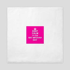 Keep Calm its your Bat Mitzvah day Queen Duvet