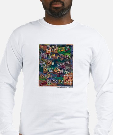 Ransom Note Art Quilt Long Sleeve T-Shirt