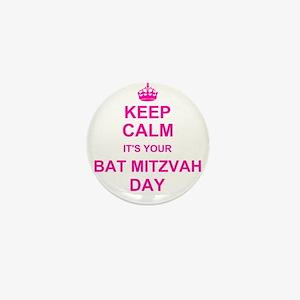 Keep Calm its your Bat Mitzvah Mini Button