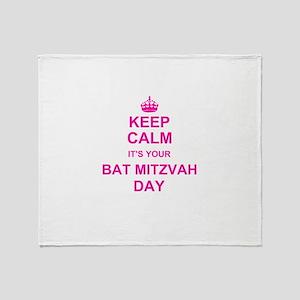 Keep Calm its your Bat Mitzvah Throw Blanket