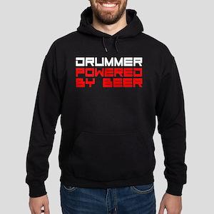 Drummer Powered By Beer Hoodie