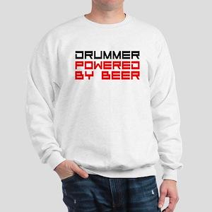 Drummer Powered By Beer Sweatshirt